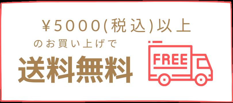 5,000円以上のお買い上げで送料無料