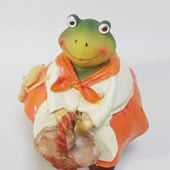 カエル 置物 女の子
