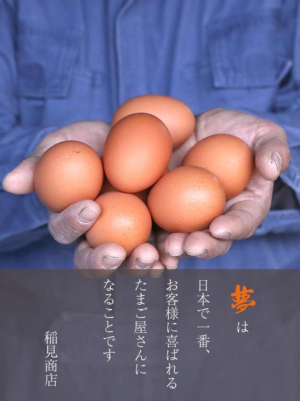 夢は日本で一番、お客様に喜ばれるたまご屋さんになることです 稲見商店