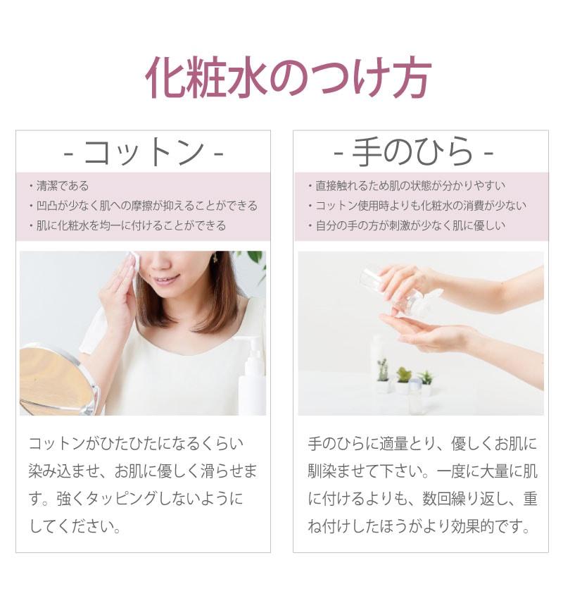 アイナチュラ社ユースフリーソフトニングローションの化粧水のつけ方