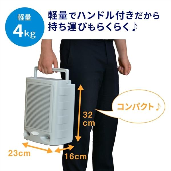 軽量4gでハンドル付きだから持ち運びもらくらくで、コンパクトで持ちやすいです♪23cm×16cm×32cm