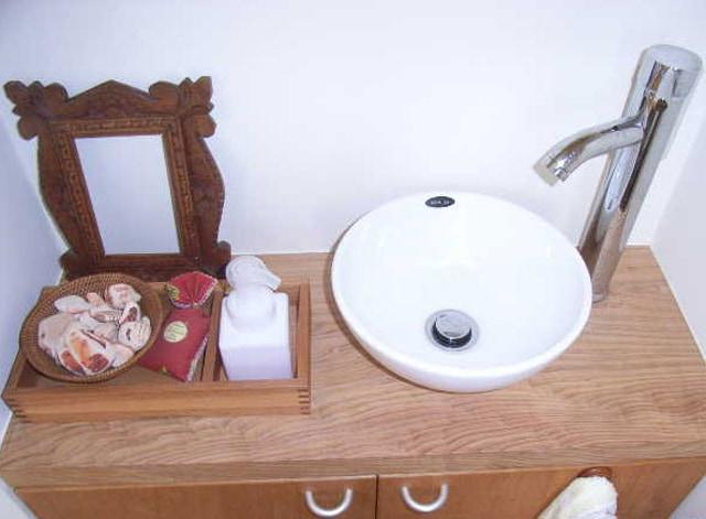 家具を利用した造作の手洗い