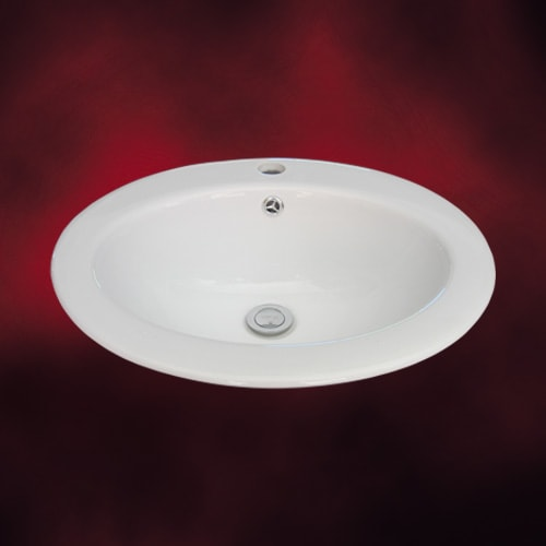 シンプルな埋込型の洗面ボウル