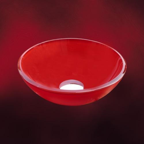 赤い280mmのガラスボウル
