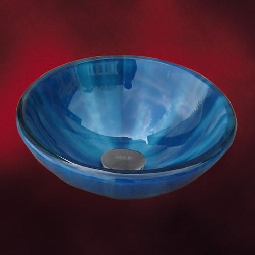 綺麗な青色のガラスボウル