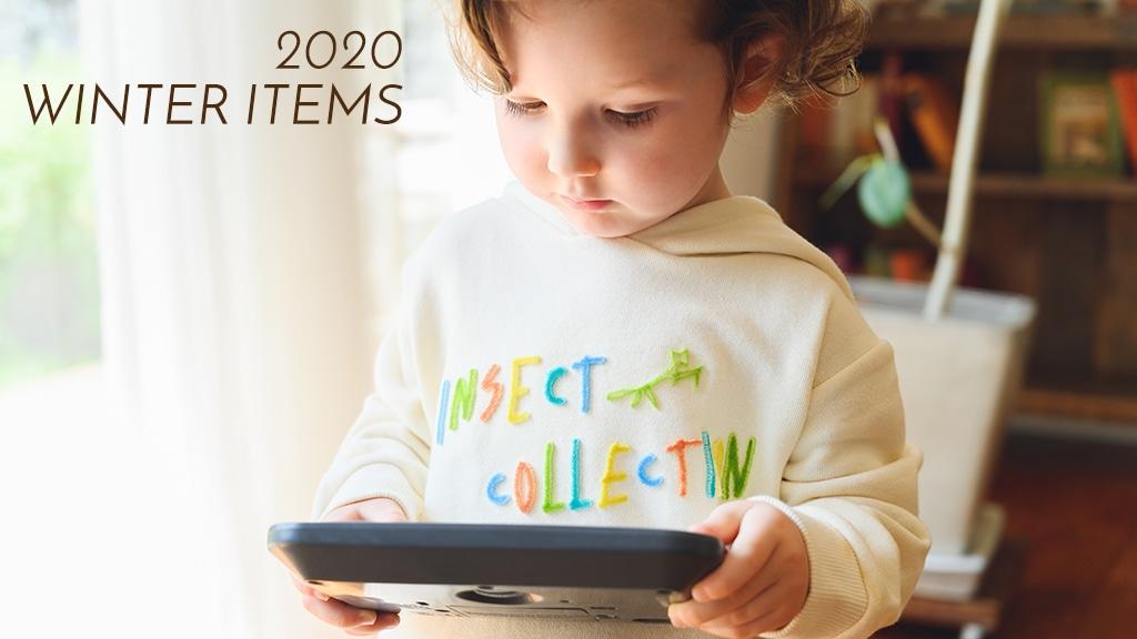 2020 WINTER ITEM カラフル歯ブラシ刺繍ロゴフーディ