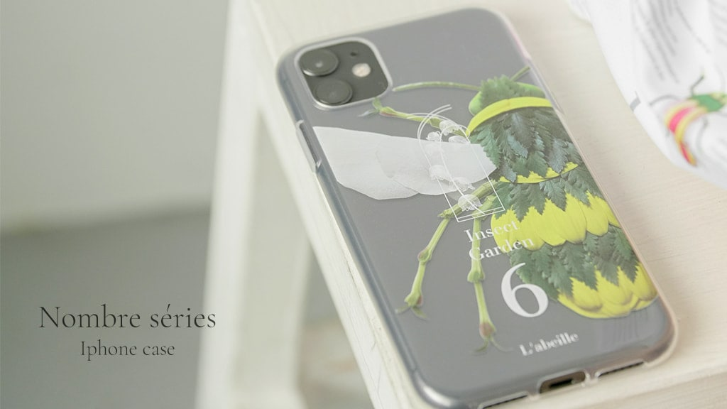 Insect Garden Nombre series iphone case
