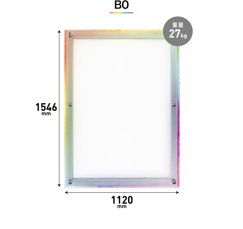 B0のサイズ