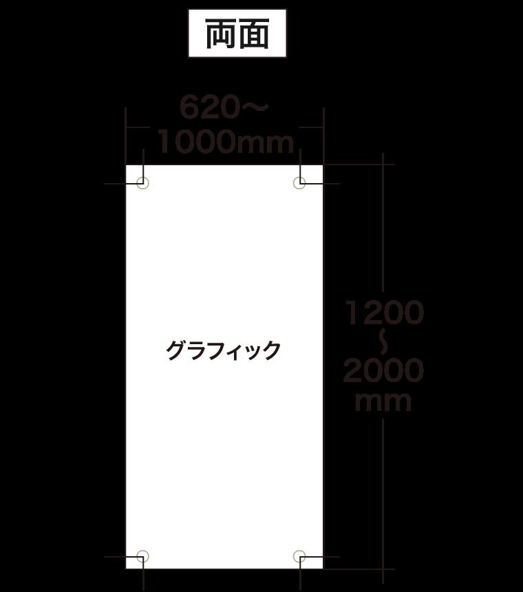 スリムバナー両面グラフィックサイズ