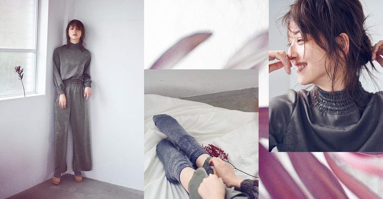 女優の佐々木希 ジャケット着用イメージ