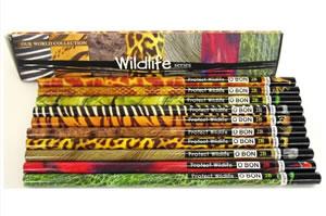 【オ—ボン】ワイルドライフ鉛筆10本入り(570円)