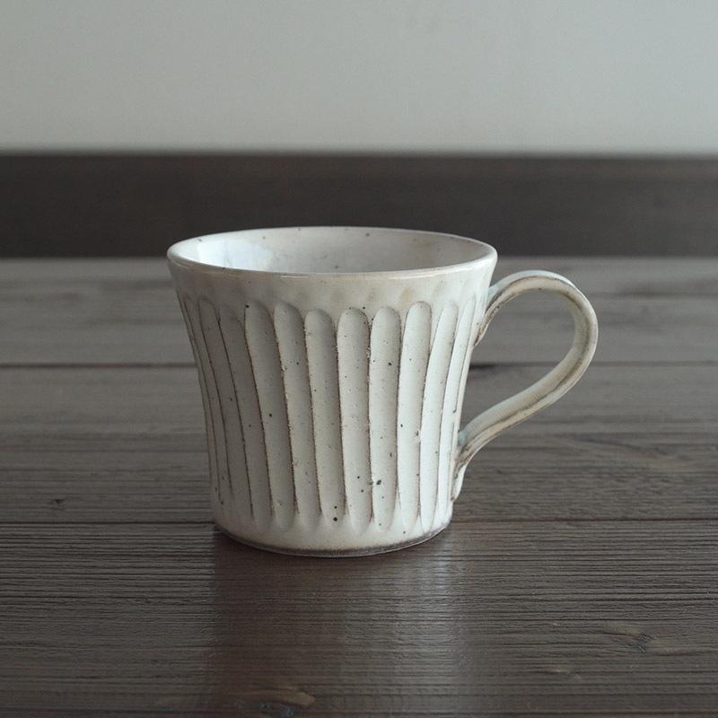 粉引削ぎ目 マグカップ