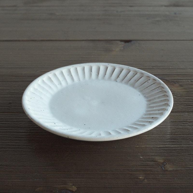 粉引削ぎ目 取り皿