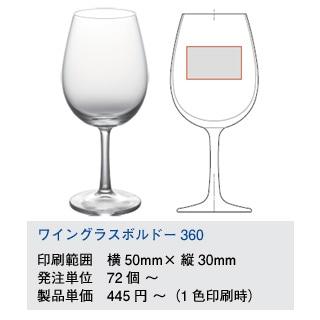 ワイングラスボルドー360