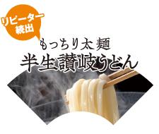 もっちり太麺半生讃岐うどん