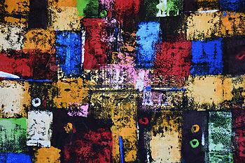 バリアート、絵画。グランジテイストの抽象画