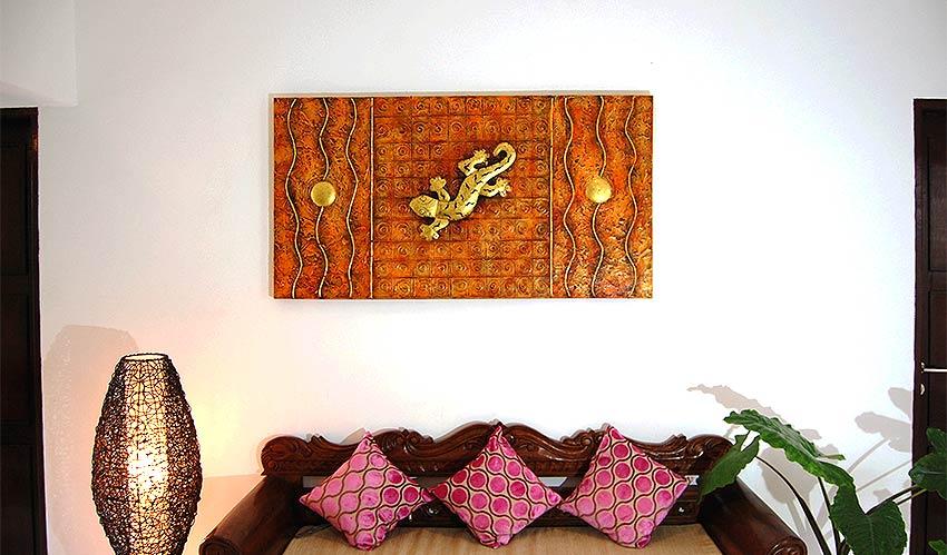 バリアート、絵画。モダンなヤモリの抽象画