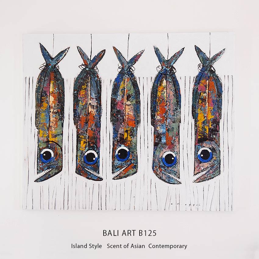 バリアート、魚の絵画