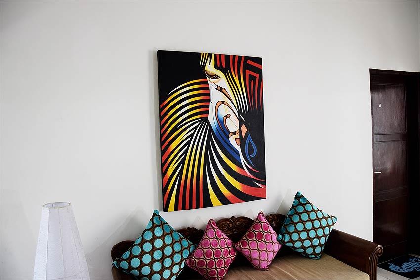 バリアート、スタイリッシュなゼブラの絵画