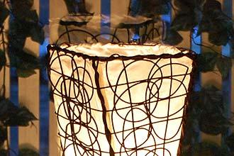 アジアン照明。ラタンを使ったシンプルモダンなライト
