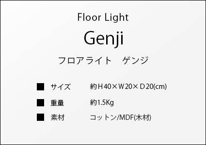 フロアライト ゲンジのサイズ詳細