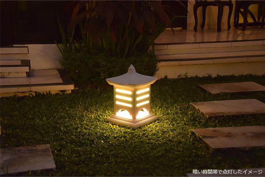お庭やデッキ、玄関等の門灯や庭園灯。屋外用照明ガーデンライト