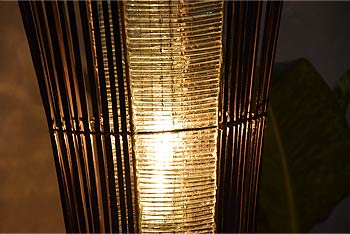 バンブーとバリガラスのアジアン照明