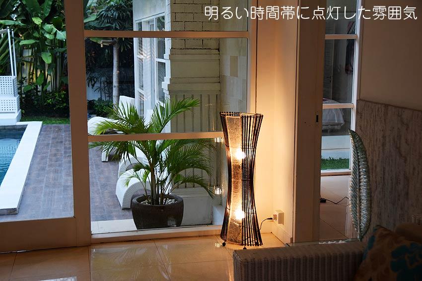 竹とレジンのさわやかなアジアン照明、和風照明