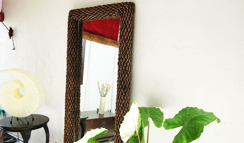 ウォーターヒヤシンスの姿見鏡。インテリアミラー。