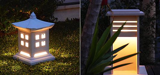 バリのリゾート照明、灯篭