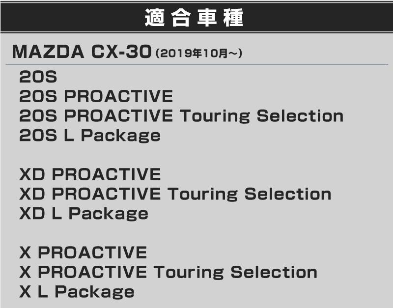 CX-30・リアバンパーステップガード&ラゲッジスカッフプレート