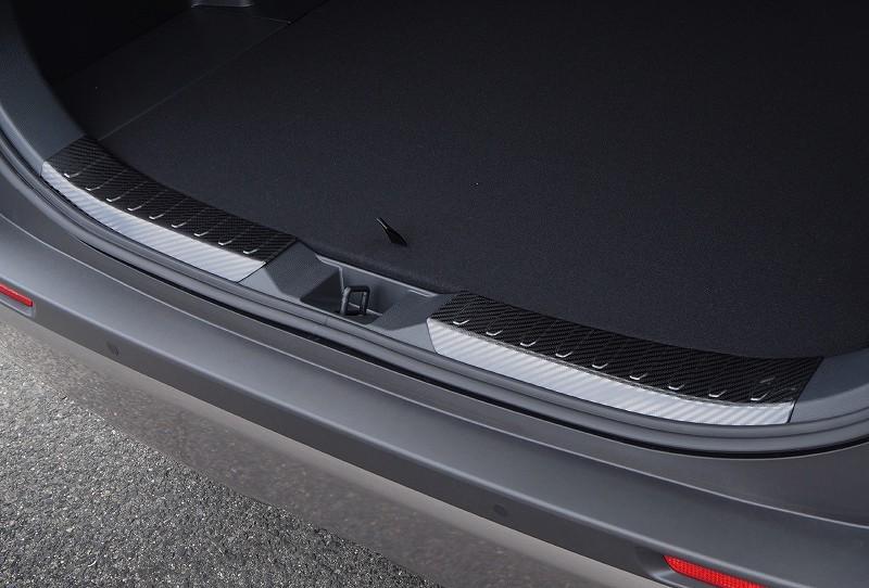 RAV4 ラブ4 カスタム リアバンパーステップガード & ラゲッジスカッフプレート