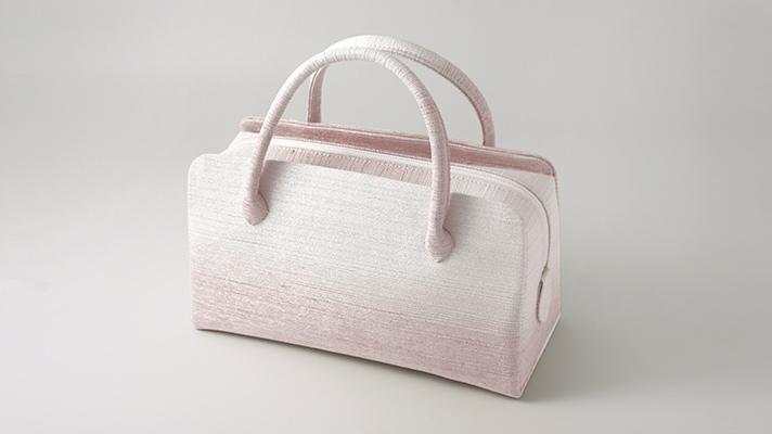 和装バッグ・利休バッグ フォーマル用葵バッグ「彩ぼかし」ピンク