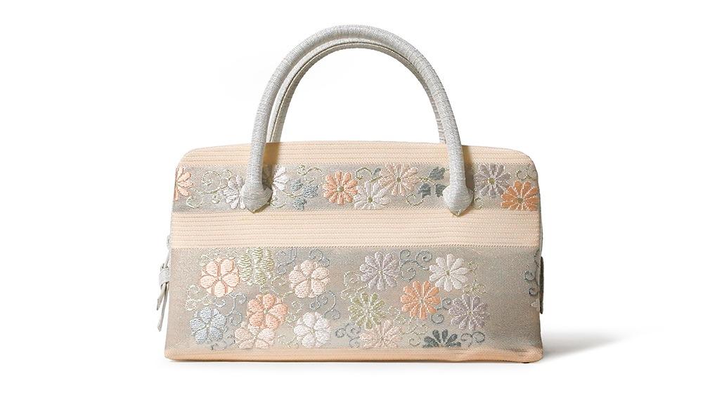 和装バッグ(利休バッグ)夏向けの葵バッグ「横段小花」