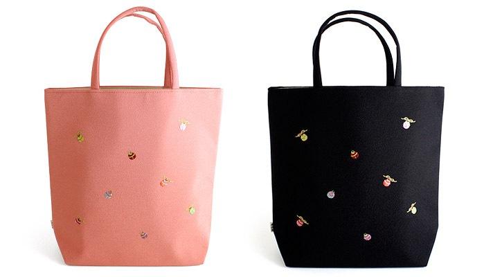 道中バッグ「小鈴」着物用カジュアルバッグ〜お稽古用バッグとして便利なちりめんの刺繍入りの手提げ袋です〜