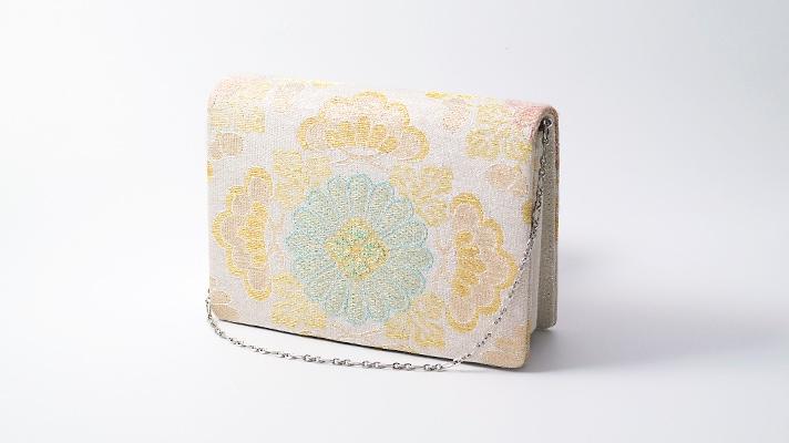 和装バッグ・パーティーバッグ 2wayクラッチバッグ「ねん金綴菊市松文」小 着物・振袖用ハンドバッグ 成人式・フォーマルバッグ 井澤屋
