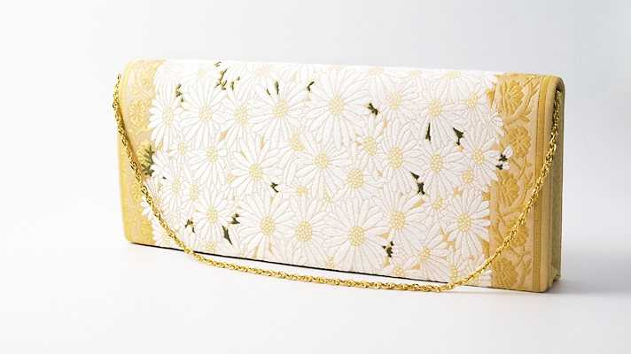 和装バッグ・パーティーバッグ 2wayクラッチバッグ「献上春菊文」着物・振袖用ハンドバッグ 成人式・フォーマル 井澤屋