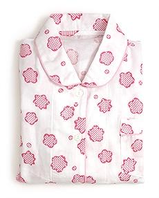 女性用ガーゼパジャマ「りんりん」 B. ピンク