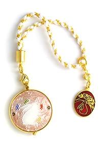 京七宝 懐中時計 E. うさぎ(ピンク)