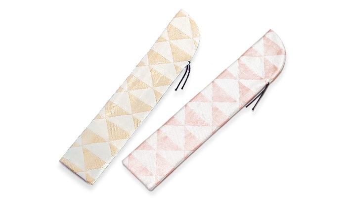 鱗柄扇子袋「煌彩うろこ紋 扇子入れ」 金銀・ゴールド・シルバー・ピンク