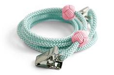 ナフキンクリップ  E. 水色 + 淡ピンクの玉