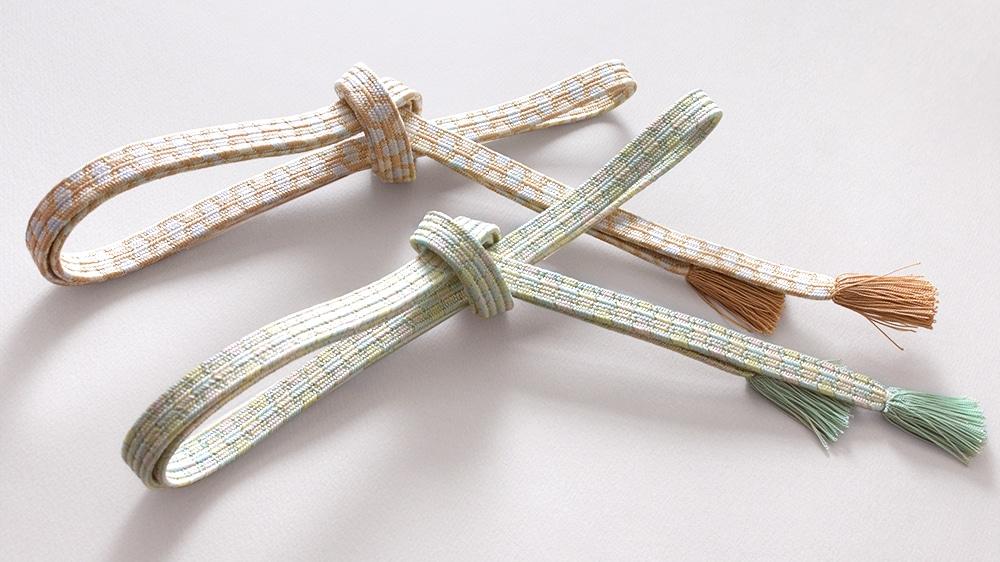 和装小物「帯締め 貝の口亀甲三色モザイク撚房」井澤屋