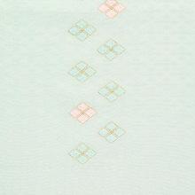 帯揚げ 吸い上げぼかし菱柄刺繍 E. 淡青磁