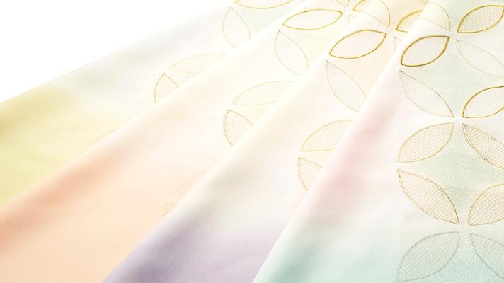 和装小物「帯揚げ 七宝金銀縫取刺繍」井澤屋