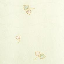 帯揚げ 双葉葵刺繍 A. ライトグリーン