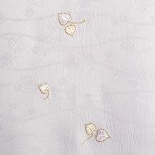 帯揚げ 双葉葵刺繍 F. パープル