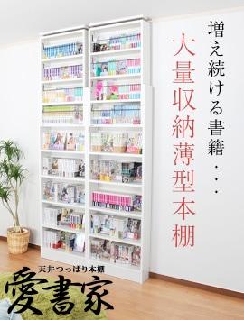 増え続ける書籍。大量収納薄型壁面書棚愛書家