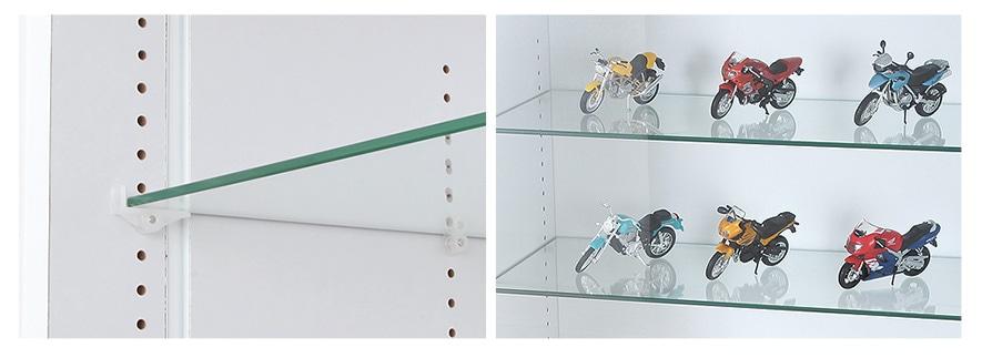5mm強化ガラス・L型棚ダボ