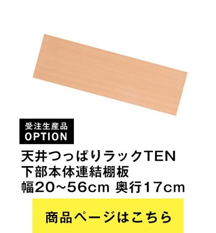 天井つっぱりラックTEN 下部本体用連結棚 幅20cmから56cm×奥行17cm
