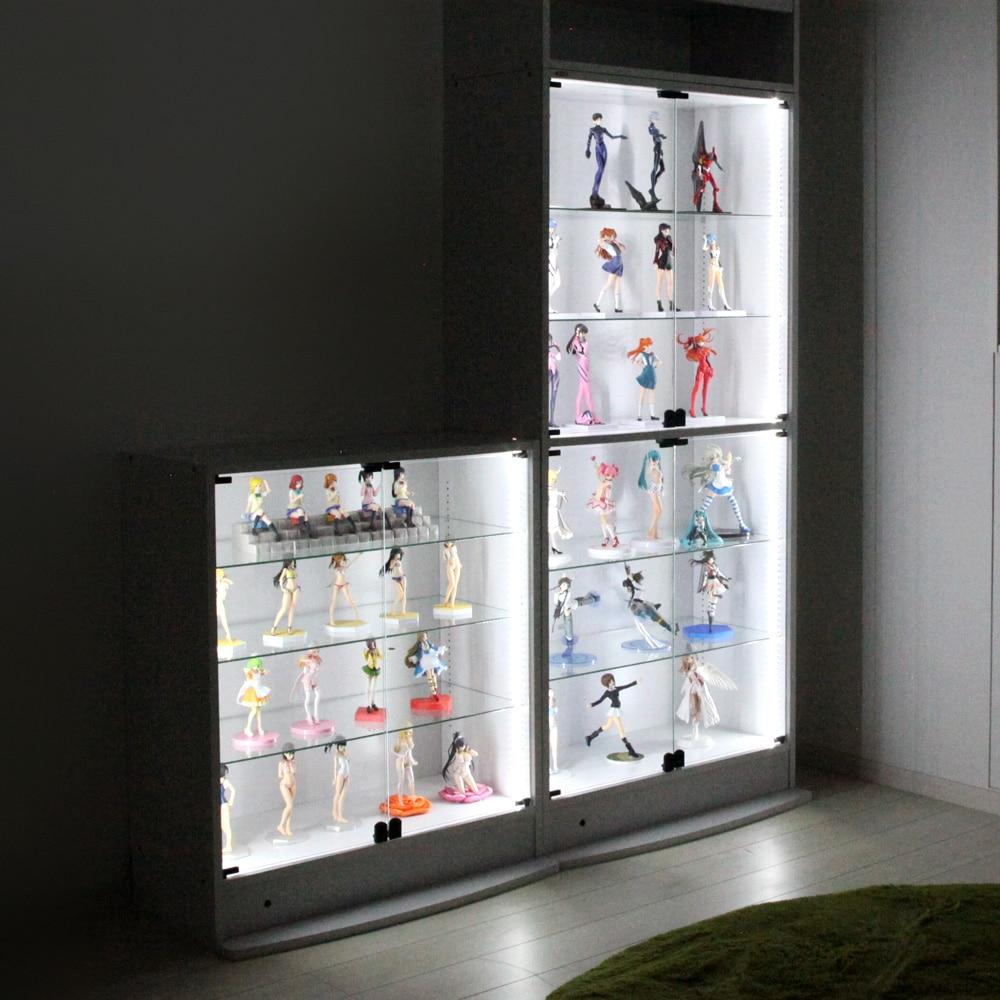 コレクションラックレギュラー、コレクションラックワイド兼用 専用LEDモジュール ロータイプ専用 CR-LED-L 使用例02